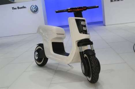 Adorable Automotive Scooters - Volkswagen's E-Scooter is a Cute Two-Wheeler