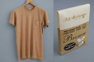 The Fil Melange 'Brown T-Shirt' is Completely Organic