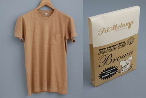 All-Natural Clothing - The Fil Melange 'Brown T-Shirt' is Completely Organic