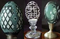 Intricate Egg Sculptures