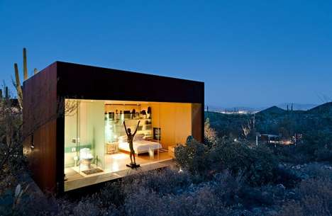 Opulent Dust Bowl Abodes - The Desert Nomad House is Modern Minimalism in the Middle of Nowhere