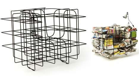 Wiry Storage Seating - Stephan Schulz's Comfy Cargo Chair Comes Unfinished for the Owner's Touch