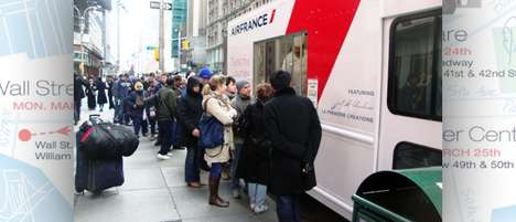 Airplane Meal Tryvertising - Air France Food Truck Dishes Free Airline Grub to the Public