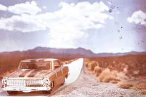 Lost Highway by Stuart McGarey Shows Hot Wheels on Retro Roads