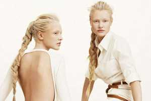 Ieva and Aida Aniulyte Don White and Brown for Twin Peaks in Marie Claire
