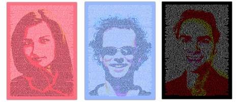 Twitterific Portraits - Kunst Buzz Creates Social Media Artwork Using Twitter Feeds
