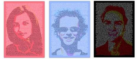 Twitterific Portraits - Kunst Buzz Creates Social Media Artwork Using Twitter Feeds