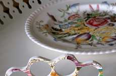 Juliet Ames Creates Knuckle-Busting Fashion Out of Tea Plates