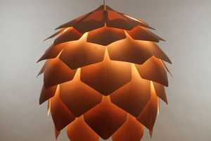 The Crimean Pinecone Lamp by Pavel Eekra is a Blossoming Design