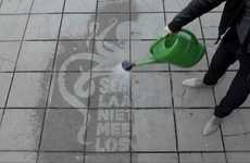Water-Revealing Street Ads
