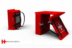 The Healing Bench is Foldable, Functional and Fit to Save Lives