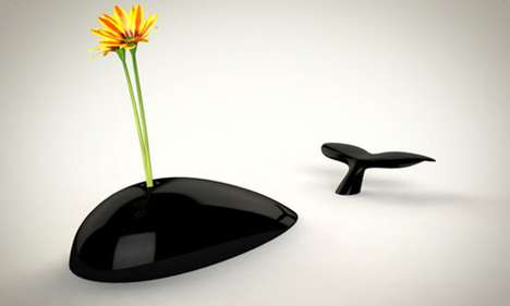Whale-Watching Vases - The Mobi Vase Turns Any Area Into an Aquatic Arena