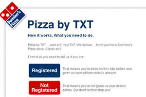 Papa John's, Domino's Accept Text Orders
