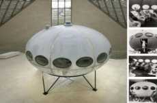 Retro Luxury Flying Saucer Home