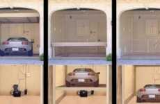 $39,000 Device Hides Cars Under The Garage