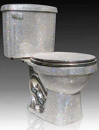 $75,000 Swarovski-Enrusted Toilet - Crystal Isis Commode Bedazzles