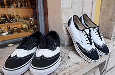Brogue Skate Shoes - The New Vans Era Wingtip Sneakers are Dapper-Styled Streetwear