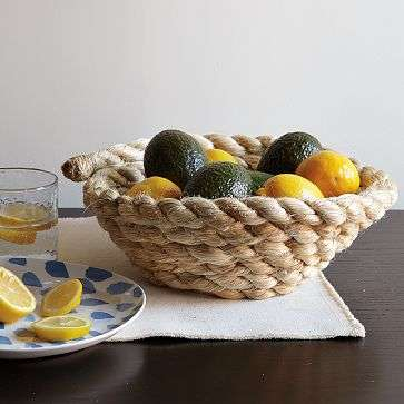 Coiled Containers - The David Stark Rope Bowl Holds Items Without Tying Them Up