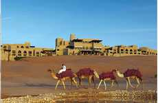 Luxurious Sandy Hotels - The Qasr Al Sarab Desert Resort Looks like a Magical Palace