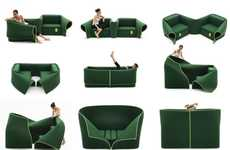 Cozy Convertible Couches - The Sosia Sofa is So Versatile It Even Acts as a Dressing Room Screen