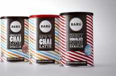 Sweet Striped Branding - Baru Packaging is Sugar-Coated with Scrumptious Swirls