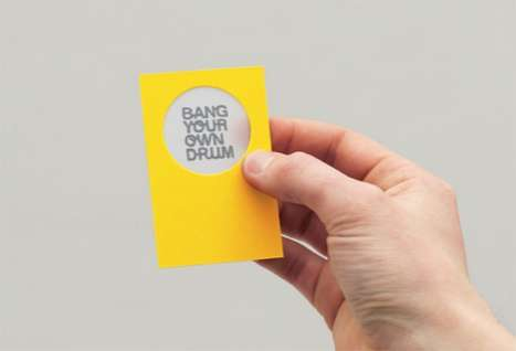 Instrumental Business Cards - 'Bang Your Own Drum Identity Work Card' for Your Inner Percussionist