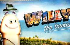 Traveling Phallic Cartoons - This Aides Spot Features Willy the Tourist Journeying the World