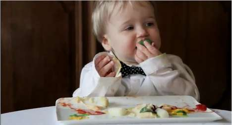 Messy Baby Advertisements - The Olvarit Babyfoods Commercial Brings Tots to a Fancy Restaurant