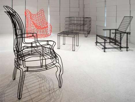 Wire Frame Furniture - Jan Plechac's Icons Collection Takes on Famous Chair Forms