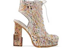 Jeffrey Campbell Mildred Paint Shoes are Expressive Footwear