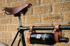 The Bicycle Wine Rack by Oopsmark Has a Steampunk Aesthetic