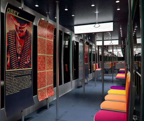 Tasteful Transit Redesigns - The Metronomie Subway Concept Has Clean and Contemporary Cars