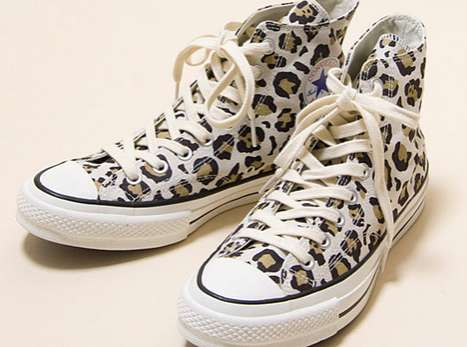 Wild High-Top Kicks - The Converse Addict All Star Hi Leopard Shoes are Feline-Friendly