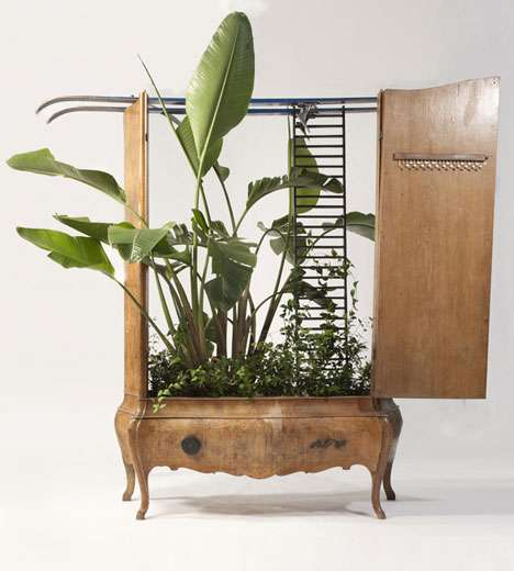 Recycled Furniture Planters - Da Morto a Orto is a Shining Example of Eco-Friendly Ingenuity