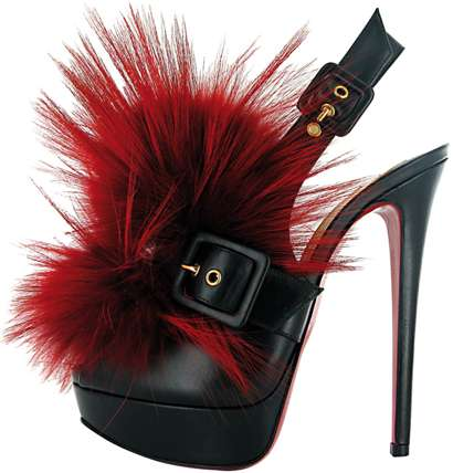 Pom-Pom Pumps - The Christian Louboutin Autumn 2011 Collection Gets Furtastic With Footwear