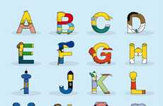 The Simpsons Alphabet by Fabian Gonzales Morphs Popular Characters