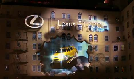 Projected Car Releases - Pearl Media Launches the Lexus CT 200H Hybrid in a Stunning Visual Display
