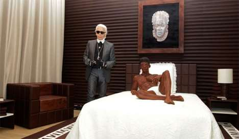 Designer Chocolate Suites - Karl Lagerfeld Uses 10 Tons of Chocolate for This Tasty Hotel Room