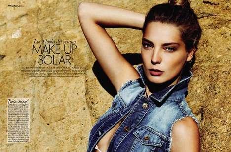 makeup solar in elle spain