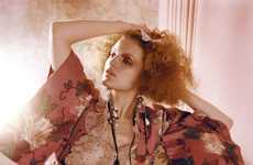 Eclectic Botanical Spreads - The Guinevere Van Seenus Editorial is Fantastically Floral