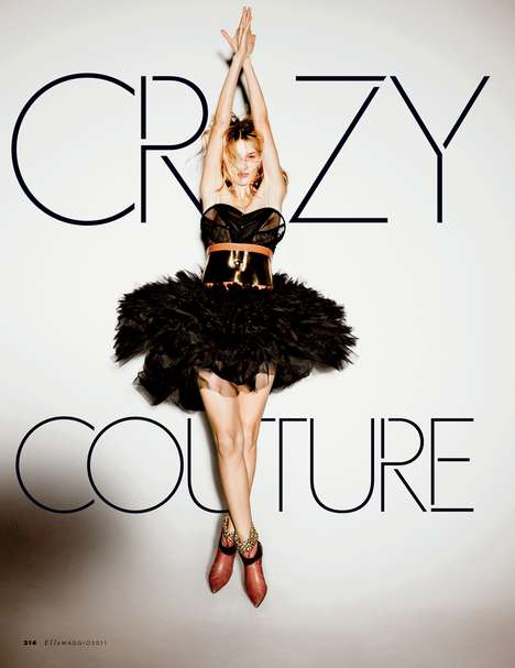 Funky Fun Fashiontography - Crazy Couture in Elle Italia Presents High Fashion's Wild Side