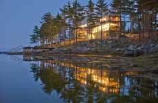 Rustic Bridge Cabins - Bridge House in Nova Scotia Uses the Natural Landscape as Its Starting Point