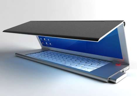 Tri-Folding Laptops - The Feno Folding Notebook is Thin and Flexible