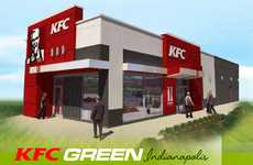 Eco Fast Food Chains - KFC Green Indianapolis Aims for LEED Architectural Certification