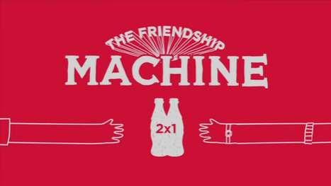 Teamwork Vending Machines - The Coca-Cola Friendship Machine Rewards Amiability With Double the Pop