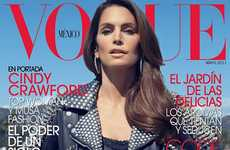 Sultry Supermom Covers - Cindy Crawford is One Hot Mama on the Cover of Vogue Mexico