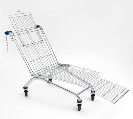 Grocery Cart Chairs - Sit in the Shopping Cart Lounger and Feel Like a Kid Again