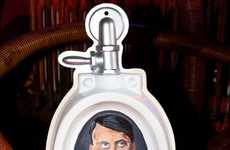 Political Toilet Artifacts - Michael Berger's Toilet Museum Features 'Pee on Adolf Hitler' Urinal