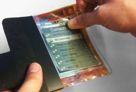 Pliable Film Smartphones - The PaperPhone Promotes a Different Twist on Tactile Tech Interaction