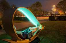 Loopy Solar Loungers - SOFT Rockers are Oscillating Recliners that Charge Your Gadgets Outdoors